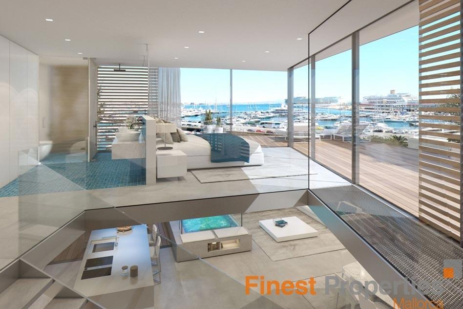 luxus apartments in neu geplanter wohnanlage mit meerblick in palma zu verkaufen. Black Bedroom Furniture Sets. Home Design Ideas